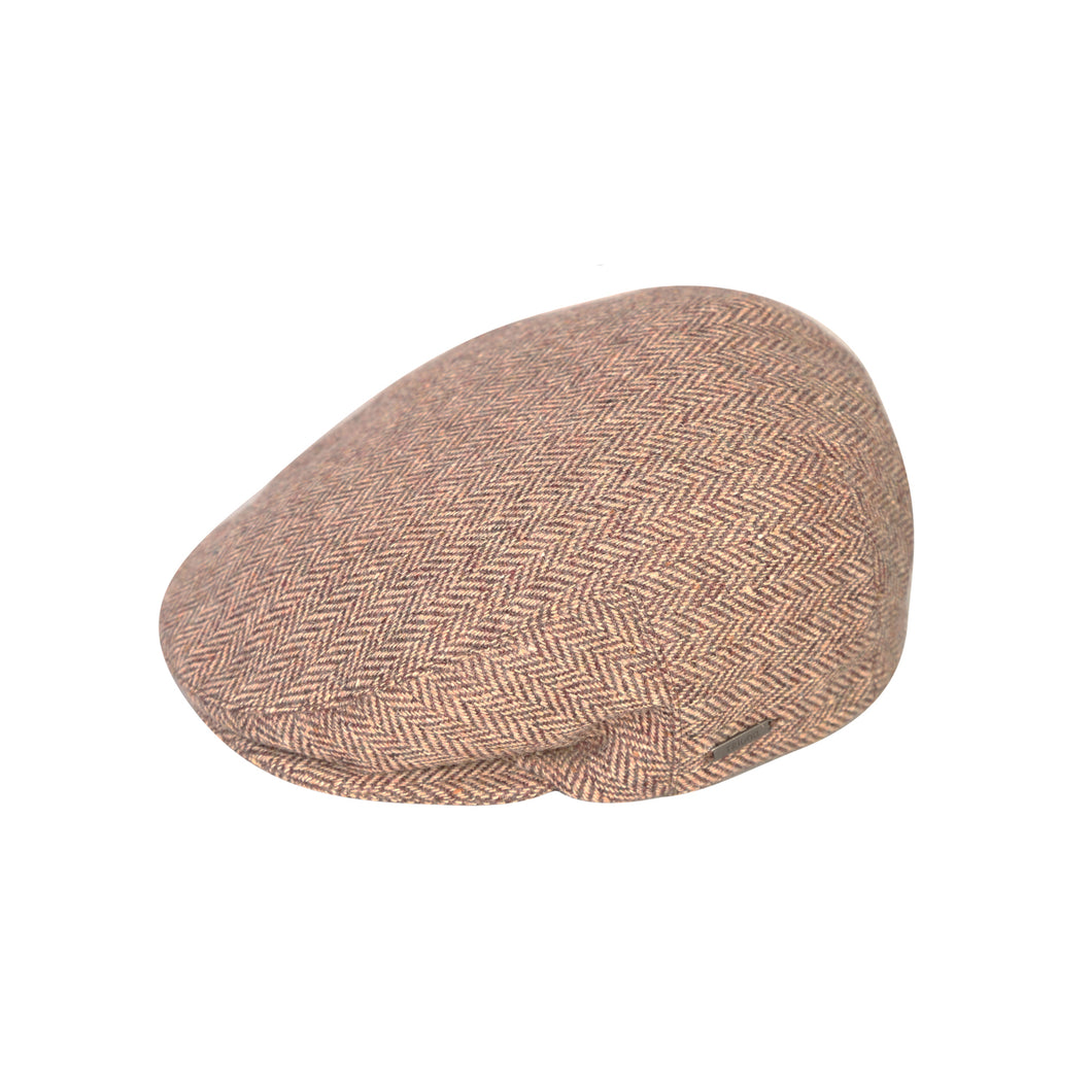 Flat Cap, Chocolate Herringbone