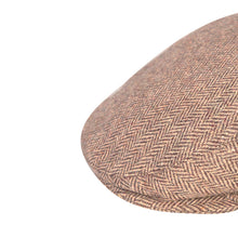 Load image into Gallery viewer, Flat Cap, Chocolate Herringbone