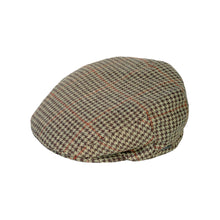 Load image into Gallery viewer, Flat Cap, Green Houndstooth