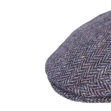 Load image into Gallery viewer, Flat Cap, Navy Herringbone Fleck