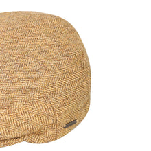 Load image into Gallery viewer, Flat Cap, Olive Herringbone