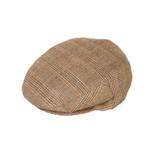 Load image into Gallery viewer, Flat Cap, Tan Houndstooth