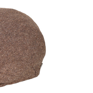 Flat Cap, Turf Herringbone with Ear Flaps