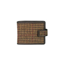 Load image into Gallery viewer, Fold Wallet, Brown & Wine Houndstooth