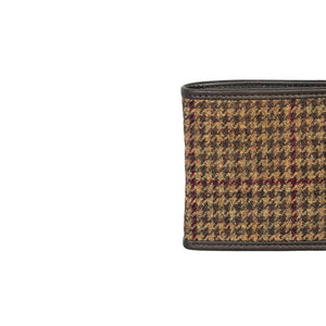 Fold Wallet, Brown & Wine Houndstooth
