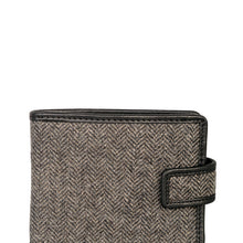Load image into Gallery viewer, Fold Wallet, Charcoal Herringbone