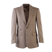 Load image into Gallery viewer, Donegal Tweed Jacket - Beige & Green Prince of Wales