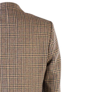 Donegal Tweed Jacket - Beige & Green Prince of Wales