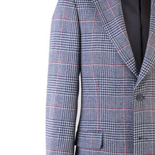 Load image into Gallery viewer, Donegal Tweed Jacket - Blue & Red Prince of Wales