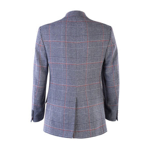 Donegal Tweed Jacket - Blue & Red Prince of Wales