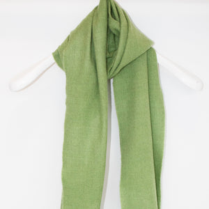 Green Merino Wool Scarf