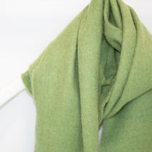 Load image into Gallery viewer, Green Merino Wool Scarf