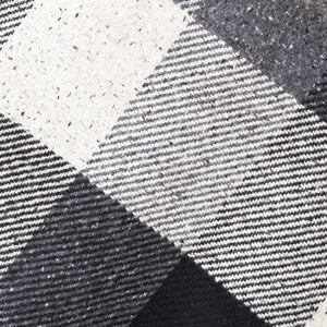 Heavy Grey & Black Check Donegal Tweed Fabric