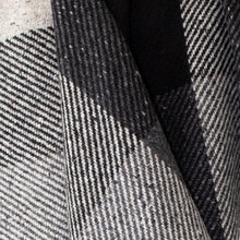 Load image into Gallery viewer, Heavy Grey & Black Check Donegal Tweed Fabric