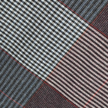 Load image into Gallery viewer, Grey & Navy Houndstooth Check Donegal Tweed Fabric Sample
