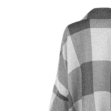 Load image into Gallery viewer, Grey Check Roisin Donegal Tweed Cape
