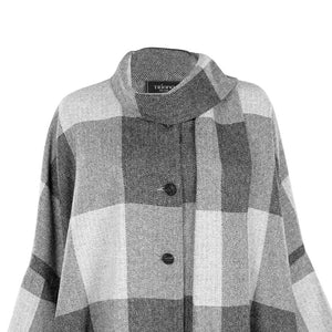 Grey Check Roisin Donegal Tweed Cape