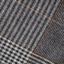 Load image into Gallery viewer, Grey & Camel Houndstooth Check Donegal Tweed Fabric