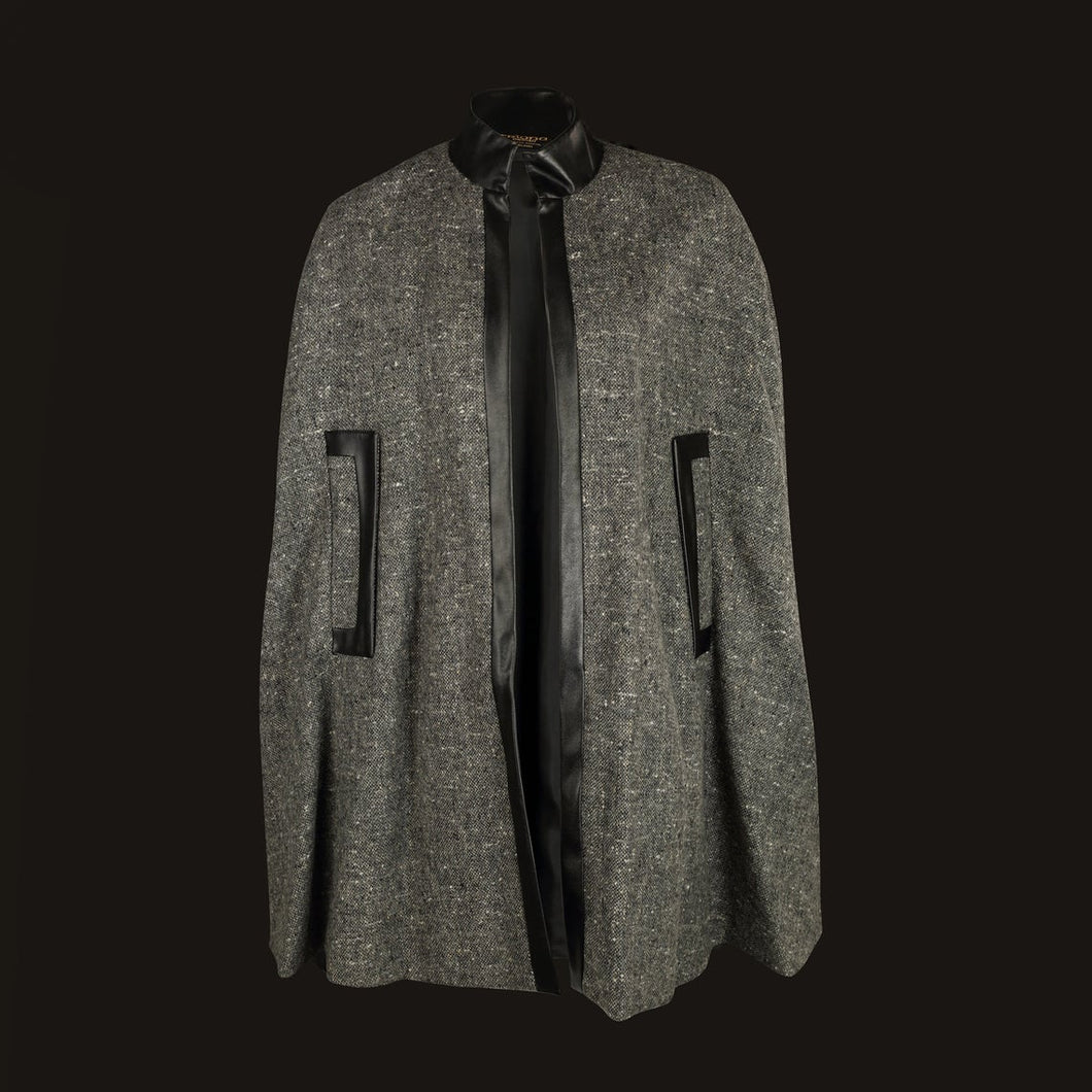 Donegal Tweed Cape - Grey Salt & Pepper