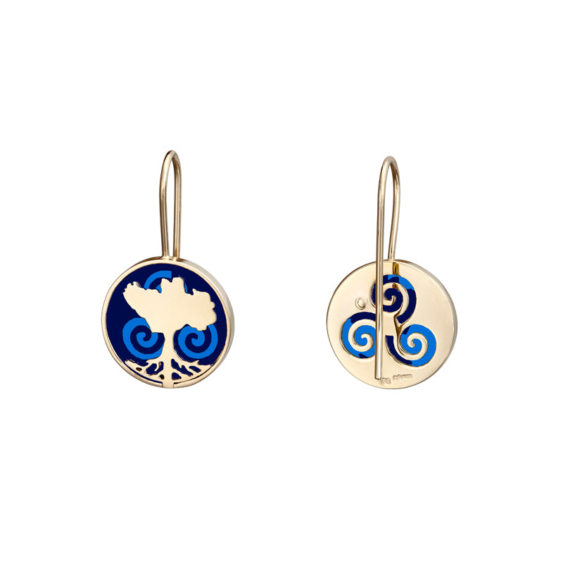 Growing Home Drop Earrings, Blue