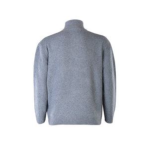 Light Blue Lightweight Half Zip Sweater
