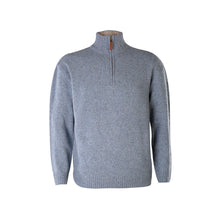 Load image into Gallery viewer, Light Blue Lightweight Half Zip Sweater