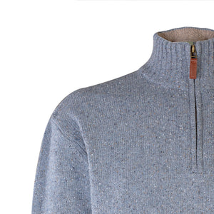 Half Zip Neck Sweater, Blue