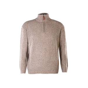 Oatmeal Lightweight Half Zip Sweater