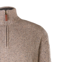 Load image into Gallery viewer, Oatmeal Lightweight Half Zip Sweater