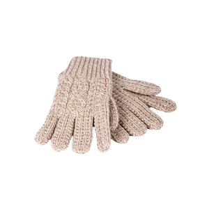 Oatmeal Wool Knit Gloves