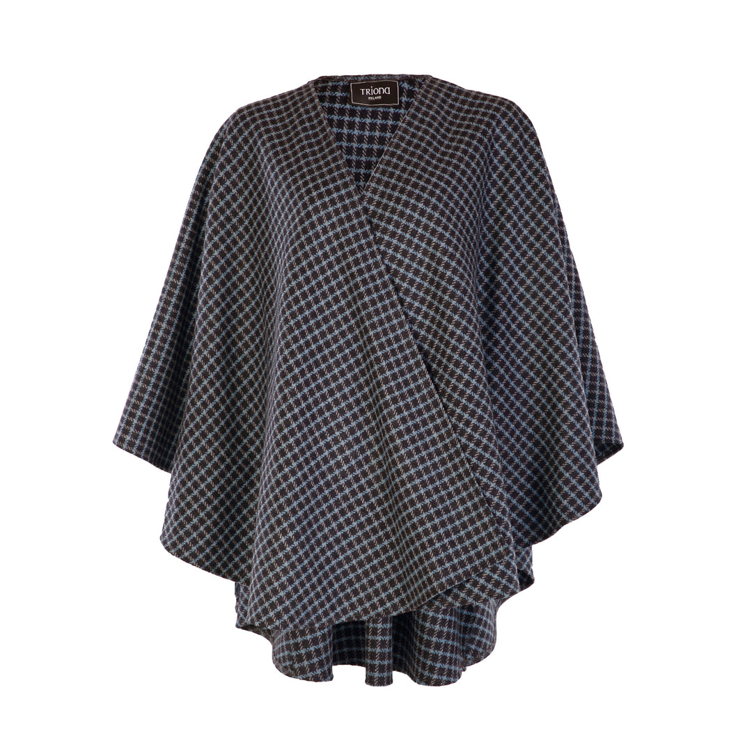 Holly Cape, Navy Blue Check