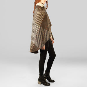 Holly Cape, Brown Check