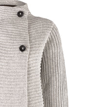 Load image into Gallery viewer, Horizontal Ribbed Two Button Knit, Grey