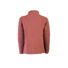 Load image into Gallery viewer, Horizontal Ribbed Cardigan, Life Buoy/Grey