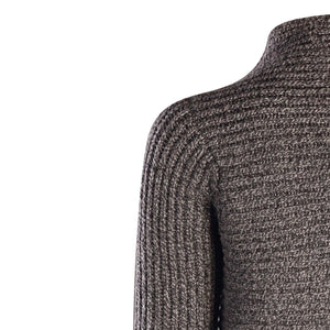 Horizontal Ribbed Two Button Knit, Slate