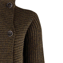 Load image into Gallery viewer, Horizontal Ribbed Two Button Knit, Tapenade