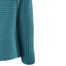 Load image into Gallery viewer, Horizontal Ribbed Two Button Knit, Turquoise