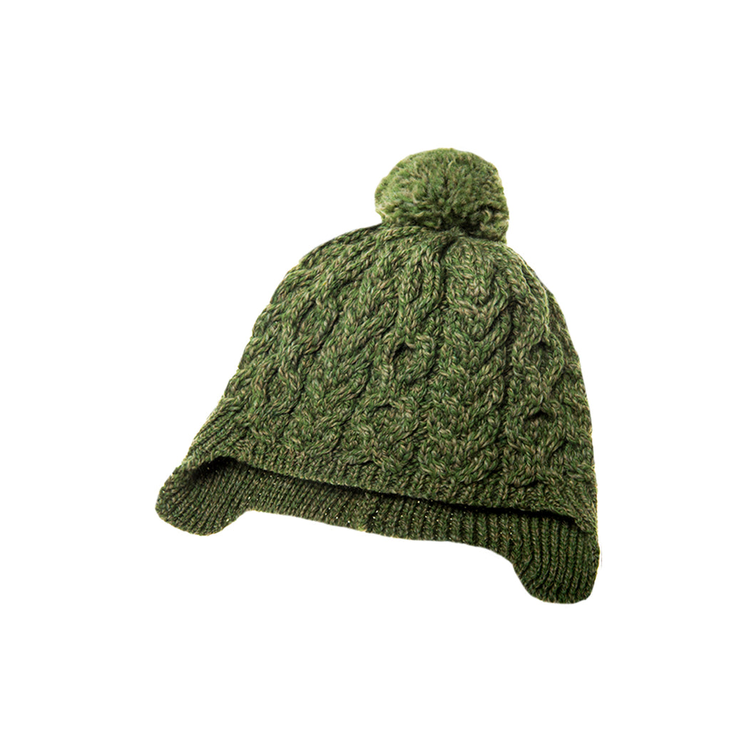 Kids Aran Hat, Green