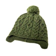 Load image into Gallery viewer, Kids Aran Hat, Green