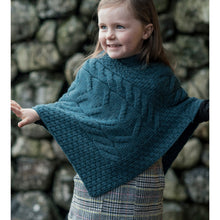 Load image into Gallery viewer, Kids Poncho, Petrol