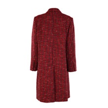Load image into Gallery viewer, Tweed Knee Coat - Red