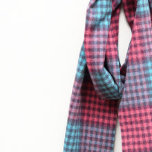 Load image into Gallery viewer, Lambswool Scarf, Pink & Aqua