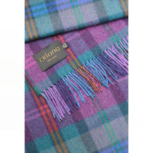 Load image into Gallery viewer, Lambswool Blanket, Purple Check