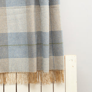 Lambswool Blanket, Tan Check