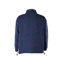 Load image into Gallery viewer, Lined Full Zip Neck Sweater, Navy