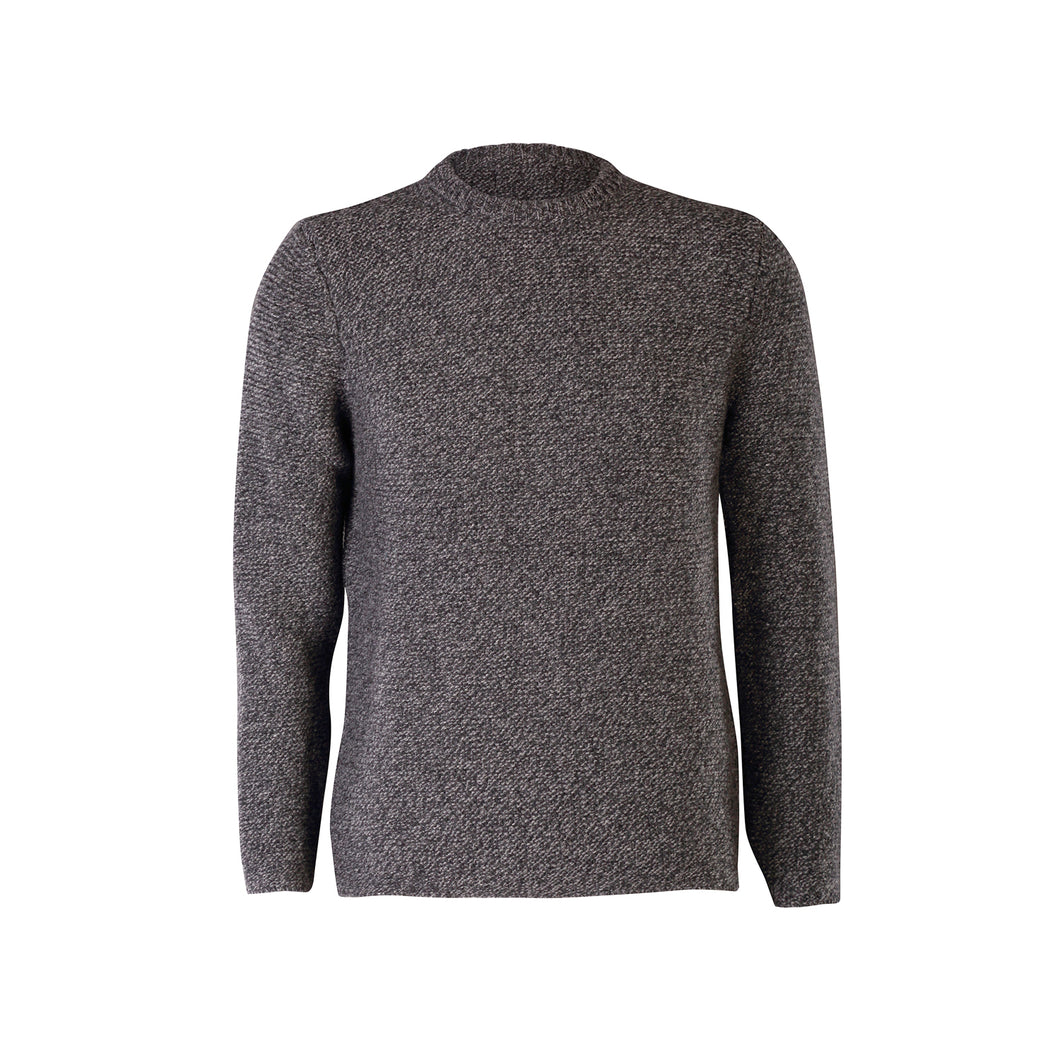 Link Stitch Crew Neck Sweater, Slate