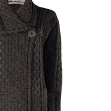 Load image into Gallery viewer, Long Two Tone One Button Cardigan, Charcoal Mix