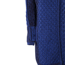Load image into Gallery viewer, Long Two Tone One Button Cardigan, Navy Mix