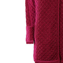 Load image into Gallery viewer, Long Two Tone One Button Cardigan, Wine Mix