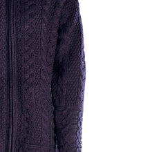 Load image into Gallery viewer, Navy Aran Cardigan with Hood